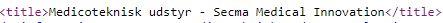 title tag i html kode